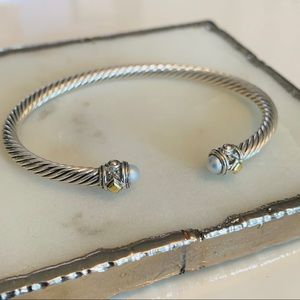 David Yurman Renaissance Bracelet Pearls 18k Gold